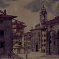 Veduta della R. Dogana e del Palazzo Pretorio