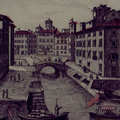Veduta dei Fossi di Venezia Nuova presa dalla parte del Palazzo di Rosciano
