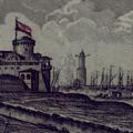 Veduta d'altra parte di Livorno e Punta del Molo