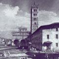 La piazza S. Martino a Lucca
