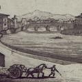 Veduta del Lung'Arno dalla parte di Tramontana