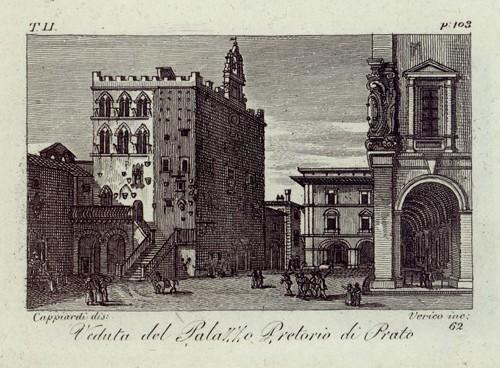 Veduta del Palazzo Pretorio di Prato