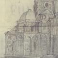 Veduta della Fabbrica del Duomo di Firenze dal Canto di via dei Martelli