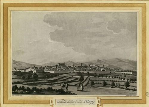 Veduta della città di Arezzo