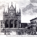 Facciata del Duomo di Siena e Palazzo Reale
