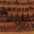 La sfilata delle Contrade nel Campo di Siena nel XVI secolo