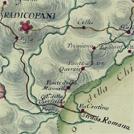 Strada da Roma a Firenze in una carta settecentesca di Antonio Giachi
