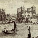 Veduta della Villa dell'Ambrogiana in un'incisione dello Zocchi