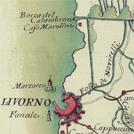 Carta settecentesca col Canale dei Navicelli tra Livorno e Pisa