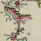 Strada da Lucca a Pisa in una carta settecentesca