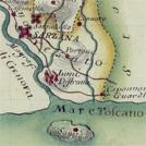 Sarzana e dintorni in una carta settecentesca di Antonio Giachi