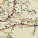 Strade in Toscana da una carta di Antonio Giachi, XVIII secolo