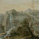 Veduta delle Cascate dell'Acquacheta negli Appennini di S. Benedetto