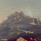 Veduta di Fiesole in un acquerello del XVIII secolo