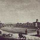 Veduta dei Lungarni di Pisa in un'incisione all'acquerello di Angelo Cappiardi, 1823