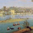 Particolare della Veduta dalla Pescaia di S. Niccolò a Firenze di Gaspar van Wittel