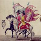 Manoscritto con rappresentazione a colori delle Feste di San Giovanni Battista a Firenze