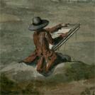 Pittore di paesaggi in un acquerello del XVIII secolo